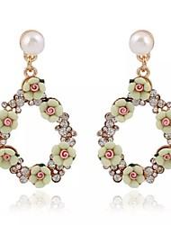 Multicolor Beads Diamond Earrings Pierced Texture Earrings