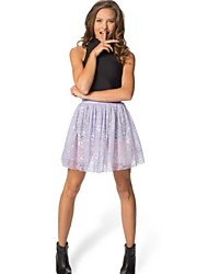Women's Lace Purple Skirts , Sexy/Lace Above Knee