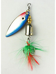 Hengjia 5pcs Spoon Metal Fishing Lures  Spinner Baits 7.4g #6 Hook