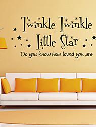 Stickers muraux murale de style de décalcomanies Twinkle Little mots STAR anglais&cite muraux PVC autocollants