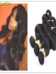 3pcs novo corpo / lot órgão de lotação onda cabelo trama tece não transformados cor natural preto extensões de cabelo humano brasileiro