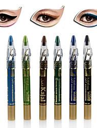 6PCS Colorful Dazzling Shimmer Eye Shadow Pen & Eyeliner Set