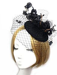 2015Women's Lace/Tulle Headpiece - Wedding/Special Occasion Fascinators/Birdcage Veils 1 PieceHA5112