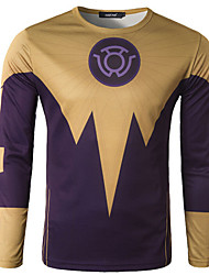 Men's Cycling T-shirt Long Sleeve Bike Autumn Breathable / Quick Dry / Wicking Yellow M / L / XL / XXL / XXXL / XXXXL Stretchy
