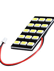 lorcoo ™ 1 pc noir 24 LED PANEL 5050 plafonnier SMD lampe + T10 BA9S feston adaptateur