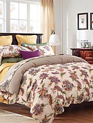H&C Cotton 800TC Duvet Cover Set 4-Piece Flowers Pattern ML004-1