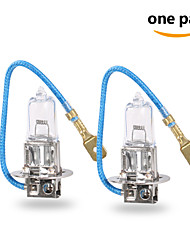 2 pcs GMY 55W 1450±15%lm 3000K Halogen Car Light H3 12V Clear