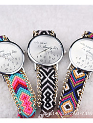 women watches Bohemia Who cares Letter Geneva Hand-woven watches