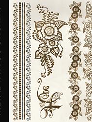 New Brand India Metallic Flash Tatoo Temporary Sticker Sexy Tattoo Body Art\Beautiful Flowers\Fashion Fake Tattoo