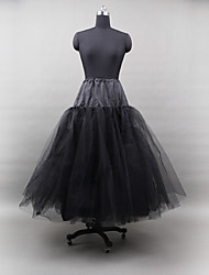 Nylon Ball Gown Three Tier Floor-length Petticoats