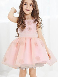 Kid's Dress , Cotton/Mesh Casual/Cute/Party Sumria