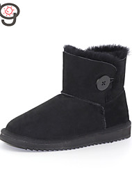 MO Twinface Sheepskin Autumn and Winter Fashion Snow Boots Warm Female Women's Shoes