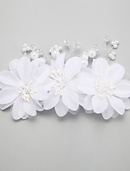 Women's Flower Girl's Pearl Alloy Imitation Pearl Headpiece-Wedding Special Occasion Hair Combs Hair Clip 1 Piece