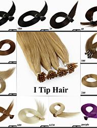 """20 """"0.8g / pc 100pieces braun blonde Farbe kalte Fusion Stick i tip remy Menschenhaarverlängerungen"""