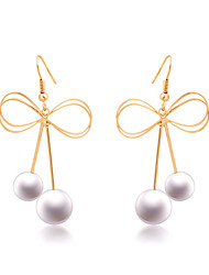 KOUYI New Version of The Butterfly Earrings Pearl Earrings
