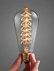 40 w bombilla e27 boca grande espiral incandescente decorada lámpara El árbol de luz de la Navidad