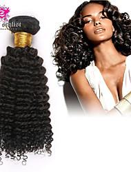 "3pcs/lot Unprocessed Mongolian Hair Kinky Curly #1B 10"" ~ 26"" Hair Weaves Bundles"