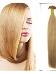 """1pc / lot 18 """"-22"""" 0,8 g / s brasilianisches reines Haar remy geraden Nagel / U Spitze Haar Verwicklung frei Extensiones de Cabello"""