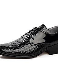 Oxfords ( Cuero , Negro/Blanco Zapatos de hombre