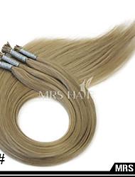 """24 """"14 # hellbraun Stick i tip remy Menschenhaarverlängerungen 1.0g / pc 100pcs vor-verbundenes Haar"""