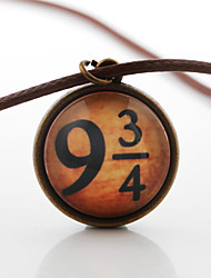 9 3/4 Nine Three of Fourth Cabochon Glass Cosplay Jewelry Necklace Harry Potter