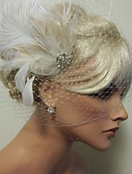Hand Made Wedding Feather Hair Clip Fascinator Headpieces Fascinators 031