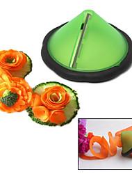outil carotte en acier inoxydable concombre bigoudi julienne de légumes fabricant de saisie-arrêt (couleur aléatoire)