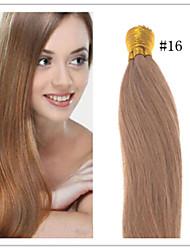 Jungfrau vorgebunden russische Menschenhaarverlängerungen glattes Haar i Stick Haarverlängerungen 1 g / s 50g / pc 1pc / lot auf Lager