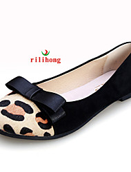 rilihong®Women's Shoes Flat Heel Comfort/Round Toe/Closed Toe Flats Dress Black/White