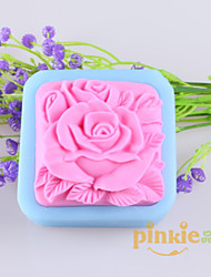 Flower Shaped Soap Molds Mooncake Mould Fondant Cake Chocolate Silicone Mold, Decoration Tools Bakeware