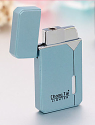 Ultra Thin Metal Windproof Jet Lighter Cigarette Lighter (Random Color)