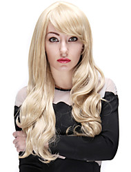30 Inch Long Curly Fashion Women Synthetic Blonde Wig