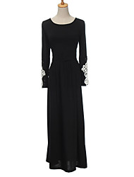 Women's Vintage Sexy Bodycon Casual Lace Work Maxi Long Sleeve Dress ,Lace