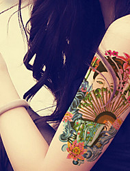 2015 Latest Version High Quality Creative Fashion Waterproof One-Time Tattoo Stickers ——Traditional Delicate Beauty