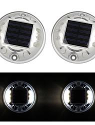 pack de 2 solaire chemin du quai lampe de lumière au sol 6-conduit extérieur de l'allée de la route