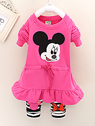 Girl's Cotton Blend Clothing Set , Spring/Fall Long Sleeve, Kids  Cotton Clothes,For 0-4 Years Old Baby,Fashion