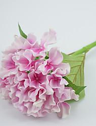 boa qualidade artificial hortênsia h: 19,6 '' pu material de látex 4 unidades / lote real toque sentir casamento flores decorativas