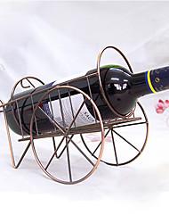 Comprar vinho em forma de garrafa de vinho titular rack de retro ferro inoxidável