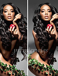 2015 Top Quality 14''-20'' Body Wave Virgin Chinese Human Hair Wigs Lace Front Wigs With Baby Hair For Black Women