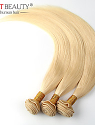 "3pcs/lot 12""-26"" Russian Virgin Hair Bleach Blonde Hair Straight Remy Human Hair"