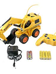 r / c prodezza scavatrice escavatore giocattolo modello 4xAA + 2xAA telecomando un escavatore