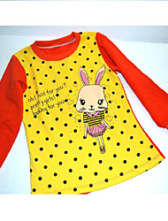 """Girl's 90-130cm High """"OUTLET"""" 100%Cotton/Lycra Trend Tee,Winter/Fall Long Sleeve"""