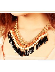 LJD Beaded Dropping Necklace