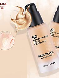 Red&Black HD Liquid Foundation Waterproof Long-lasting High Definition 30ml