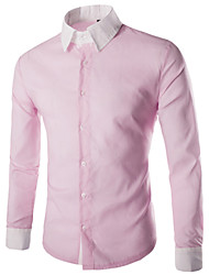 Men's Stylish  Pure  Long Sleeve Dress Shirt