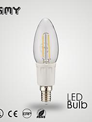 3W E12 Luzes de LED em Vela C35 8 COB ≥380 lm Branco Quente / Branco Frio Decorativa AC 110-130 V 1 pç
