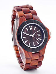 Handmade Mens Wood Watch Made From Red Sandalwood. Each Watch Is Unique Because No Two Pieces Of Wood Are The Same Wrist Watch Cool Watch Unique Watch