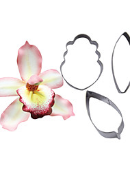 FOUR-C Cymbidium Orchid Petal Flower Cutter, Cake Decorating Tools, Fondant Cutter Cupcake Mold baking Tools