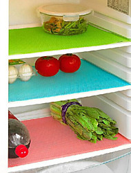 4-Piece Antibacterial Refrigerator Liner Mat Cut-to-Measure Cabinet Drawer Pad  (Ramdon Color)