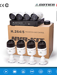 poe cotier® kits nvr 8ch ir 720p 20m distancia IP H.264 cámara n8b / kits-poe
